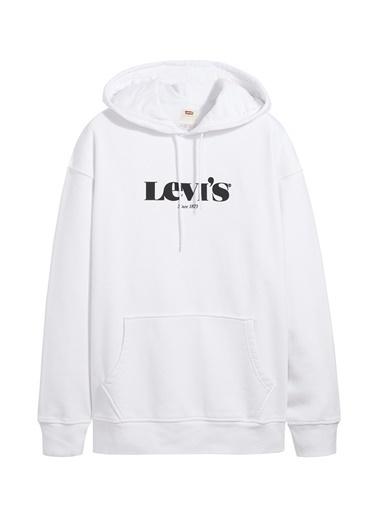 Levi's® Levis Erkek Beyaz Kapüşonlu Sweatshirt Beyaz